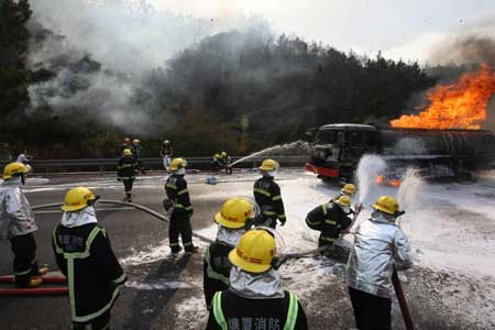 olietanker in brand China